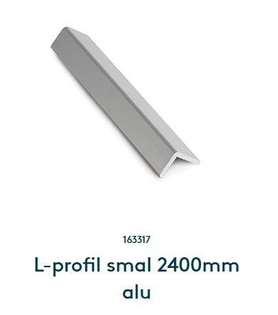 L-profil smal 2400mm aluminium