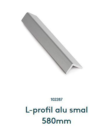 L-profil alu smal 580mm